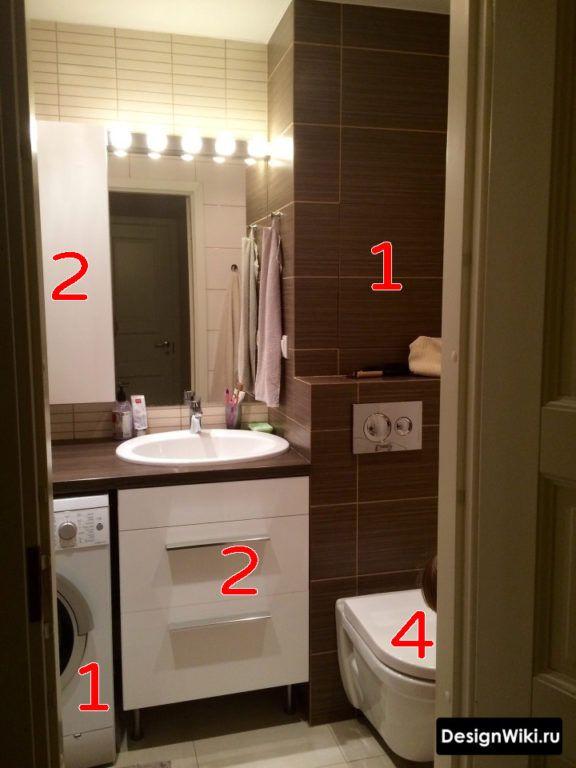 дизайн ванной комнаты с туалетом 4 кв м 2