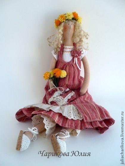 Куклы Тильды ручной работы. Ярмарка Мастеров - ручная работа Бохо.Май.Венок из одуванчиков 2. Handmade.
