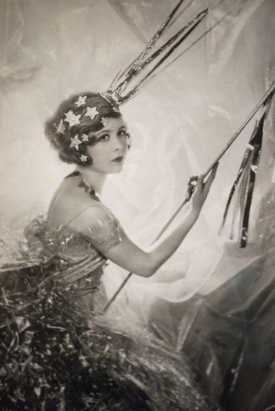 Cecil Beaton's sister, Nancy as a shooting star.