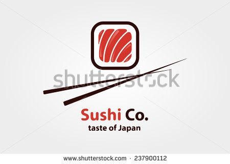 Vector logo design element. Sushi, restaurant, japanese - stock vector