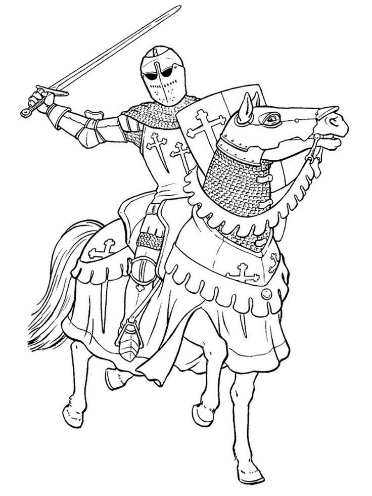 Рыцарь картинки для срисовки, днем рождением кума
