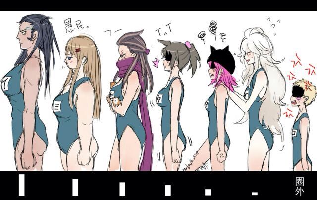 Genderbend school swimsuit style more genderbend school danganronpa