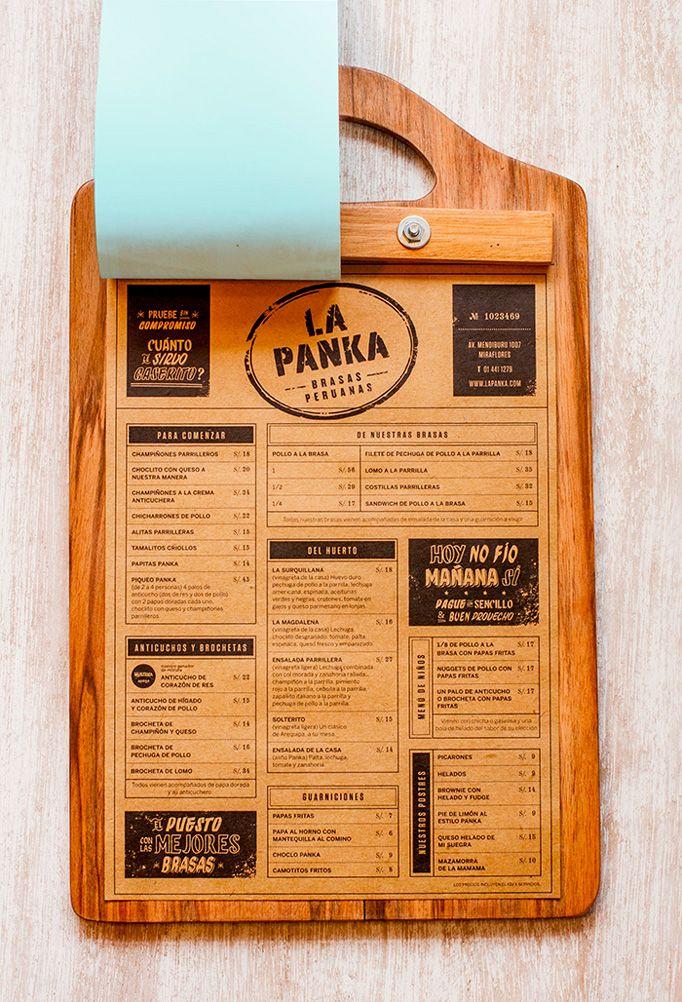 Art of the menu la panka ontwerpen pinterest craft for Porte menu exterieur pour restaurant