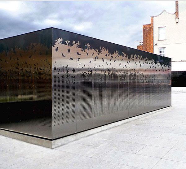 ACTON TWON (London) KIOSK | Double stainless-steel skin. Microarquitectura is a manufacturer of prefabricated kiosks and bars #microarquitectura #kiosk