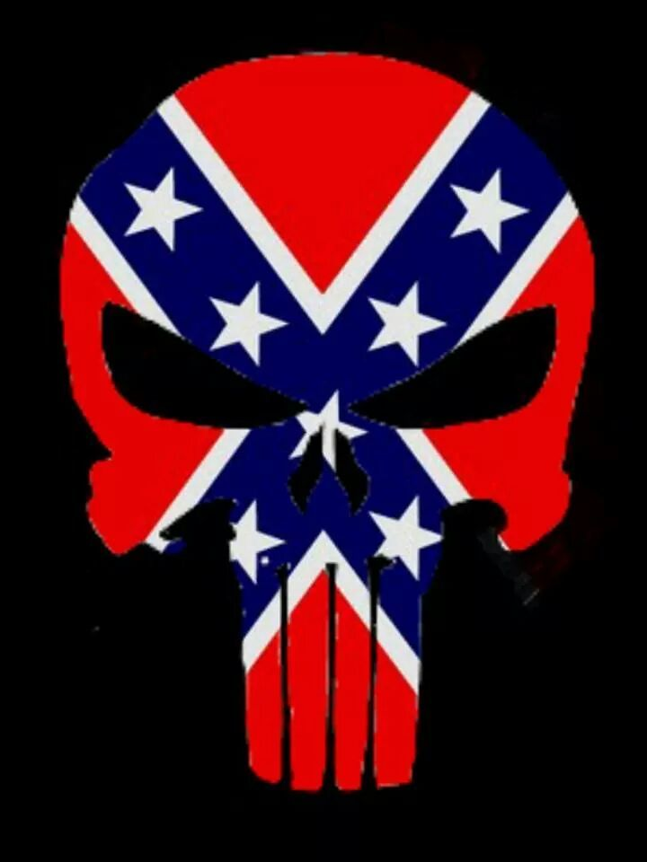Custom Punisher Skull Rebel Flag By Eddieduffield19 On
