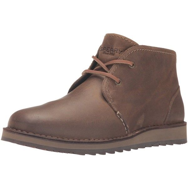 Amazon.com | Sperry Top-Sider Men's Dockyard Chukka Boot | Boots (2.300 ARS) ❤ liked on Polyvore featuring men's fashion, men's shoes, men's boots, mens chukka shoes, mens boots, sperry mens boots, mens shoes and sperry mens shoes