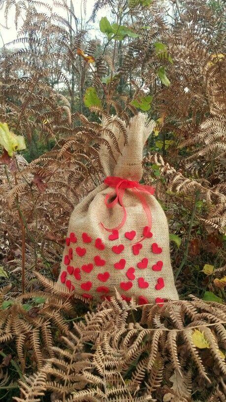 love #hediye paketi #çuval bezi #burlap
