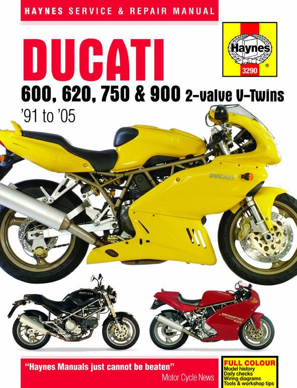 Haynes M3290 Repair Manual for 1991-05 Ducati 600 / 620 / 750 / 900
