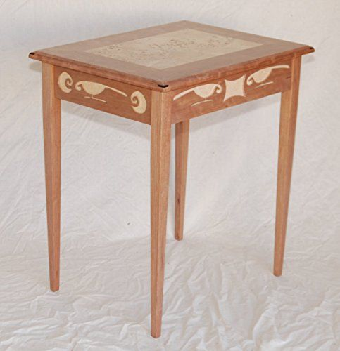 Handmade Furniture Rain Bird End Table with Mappa Veneer * For more information, visit image link.