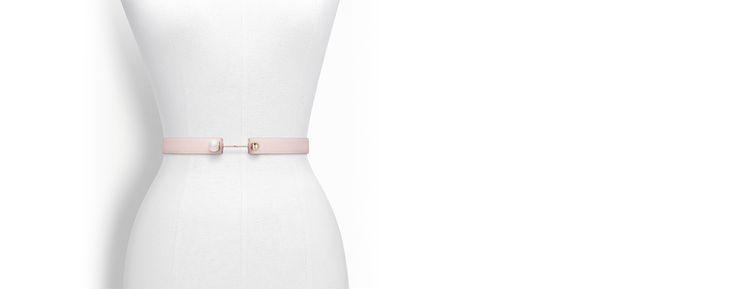 """Cinto """"dior pearl"""" em couro de bezerro rose poudre - Dior"""
