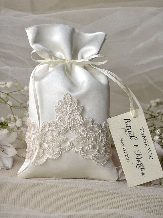 Wedding Gift Bag Cards : ... www.etsy.com/listing/191362787/vintage-wedding-favor-bag-lace-wedding