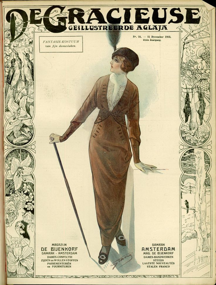 [De Gracieuse] Fantasie-kostuum van fijn dameslaken (December 1913)