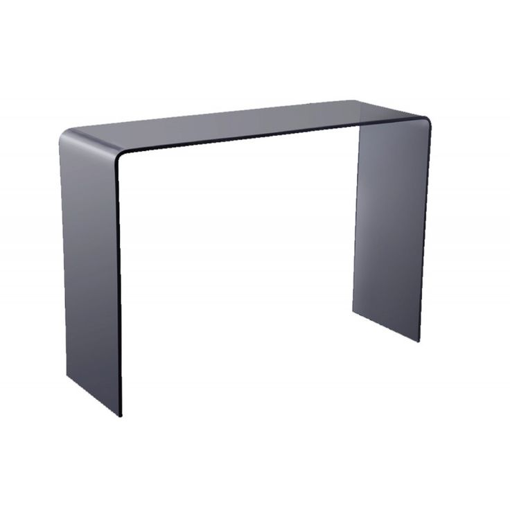 Glass console table Glasser Smoke 12mm tempered 110x35x75 ΕΜ723,10