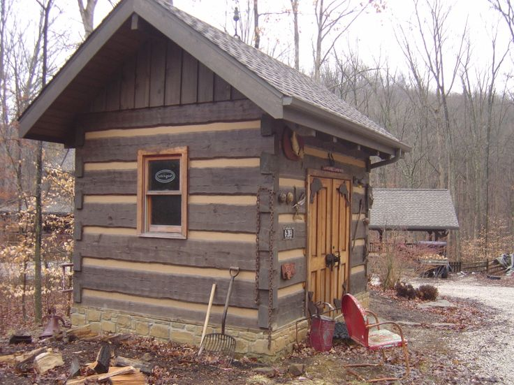 Tool Sheds Cabins : Log tool shed my foot that has quot personal hide
