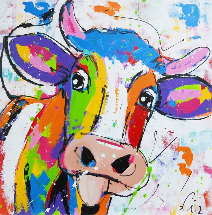sweet cow paintings of cows jersey cows cow art by laveryart on etsy ... I Love Moo Cow