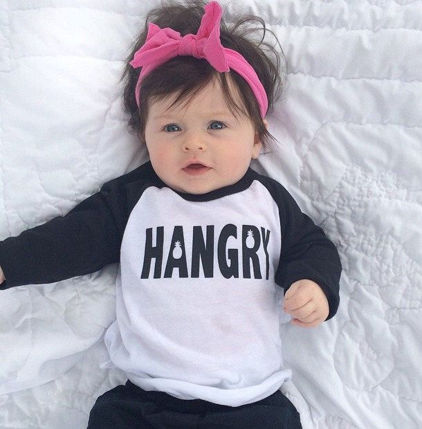 Hangry Pineapple Tee, Toddler t-shirt, Trendy kids clothes, Hipster kids clothes, child t-shirt, Screen Printed Shirts, Graphic Tee, hipster by SandiLake on Etsy https://www.etsy.com/listing/217603956/hangry-pineapple-tee-toddler-t-shirt
