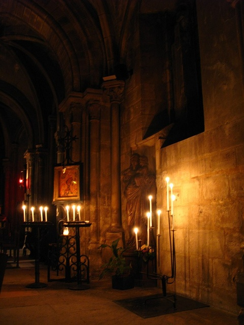 Oldest church in Paris by candle light by chillu
