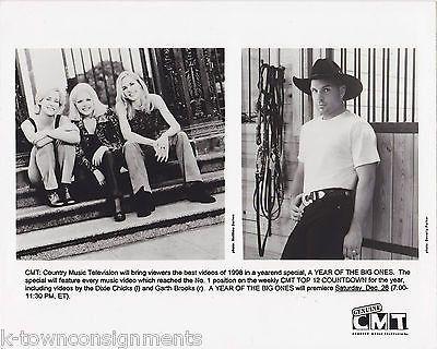 DIXIE CHICKS & GARTH BROOKS ORIGINAL 1990s CMT NEWS PROMO PHOTOGRAPH