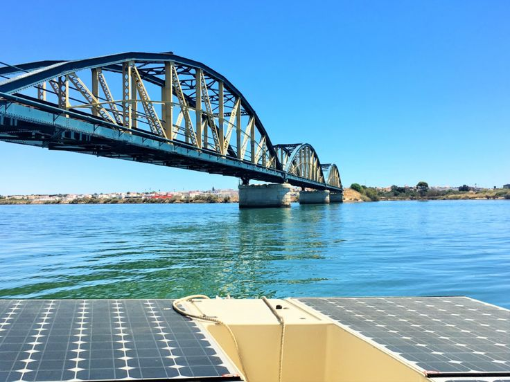 Bridge in Portimão on our Solar Boat. Please contact us if you wish to go on a boat tour on the Arade River. www.algarvesunboat.com  #portimao #praiadarocha #solarboat #arade