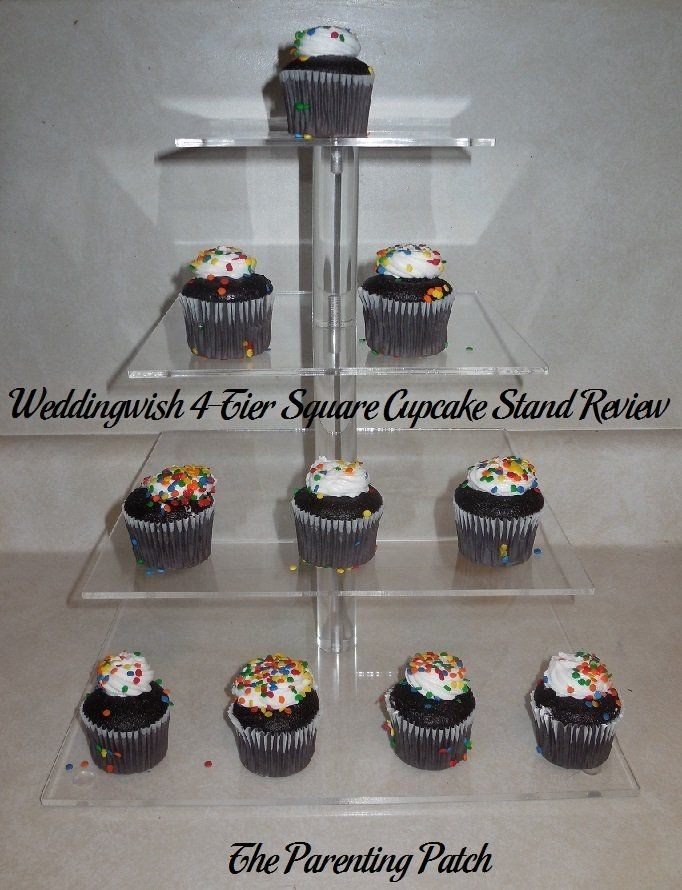 Weddingwish 4-Tier Square Cupcake Stand Review