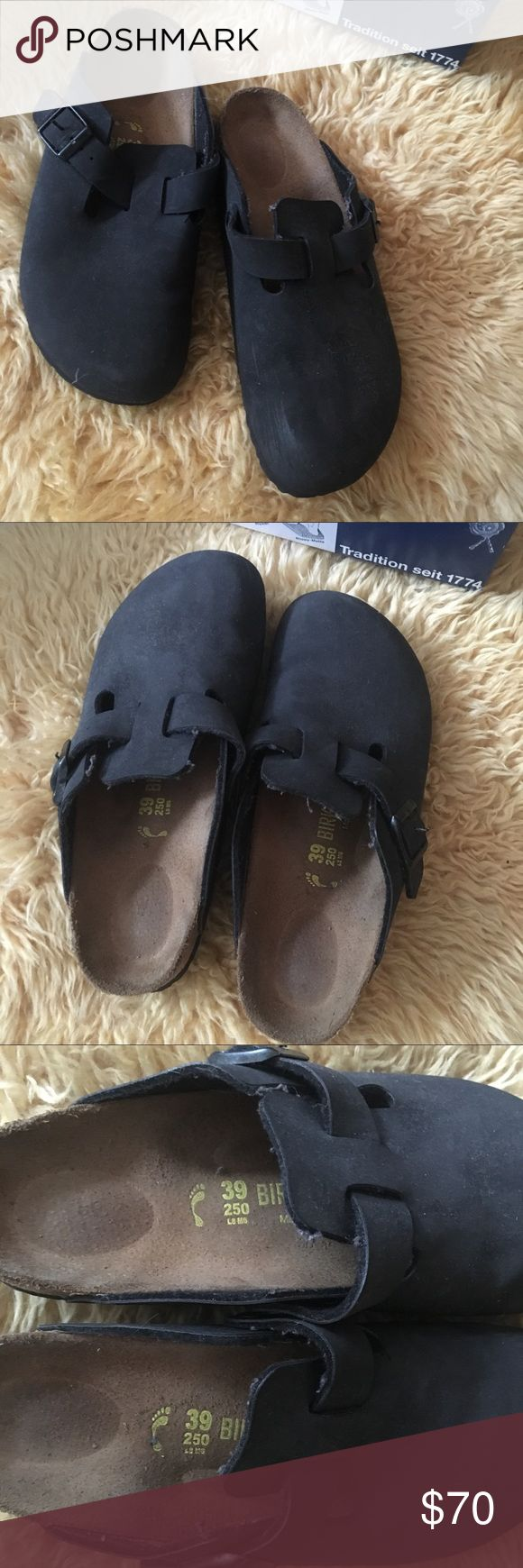 Black Birkenstock Clogs Like new only worn a few times! I am normally a size 7.5/8 and these still fit me! Especially when wearing cozy socks. Birkenstock Shoes Mules & Clogs