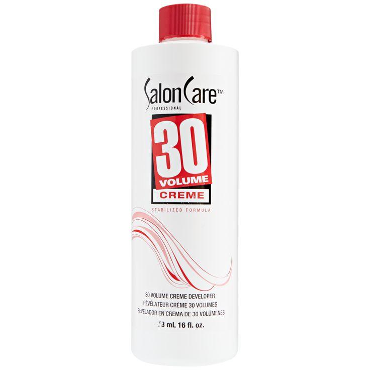 Salon Care 30 Volume Creme Developer provides extra lightening action in one step.