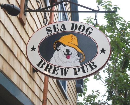 Sea Dog Brew Pub sign
