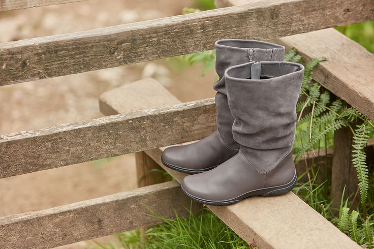 Mystery, £89.  Crafted from the finest leather and suede, Mystery is designed to gently caress your feet with a super-soft warm textile lining, full inside zip and elasticated inserts that work together with the rounded toe to create all day happy feet.