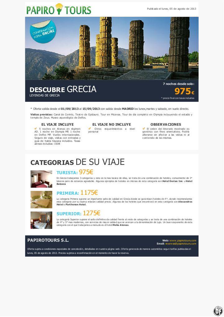 GRECIA 8 días programa LEYENDAS DE GRECIA desde 975€ precio final - http://zocotours.com/grecia-8-dias-programa-leyendas-de-grecia-desde-975e-precio-final/