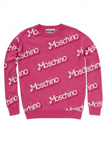 Moschino-maglia barbie moschino -moschino barbie knitted cotton shirt-Moschino shop online
