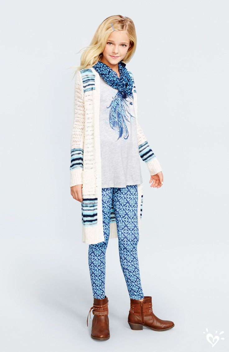 Spotted: made-to-match printed leggings, tops, cardigans ...