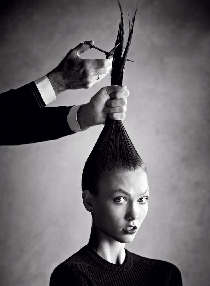 Karlie Kloss Takes the Big Chop for Vogue US January 2013. Photo by Patrick Demarchelier.