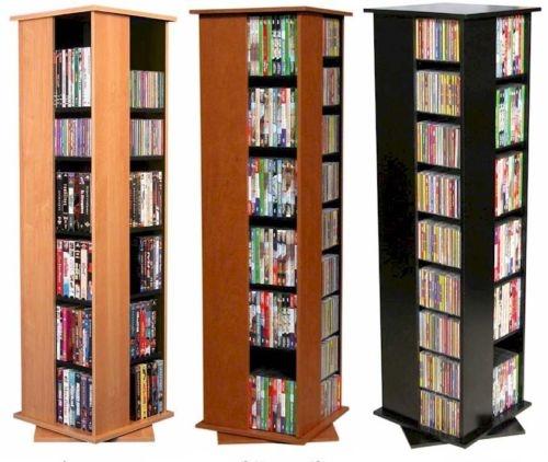 612 Cd 288 Dvd Floor Spinner Storage Tower Rack New