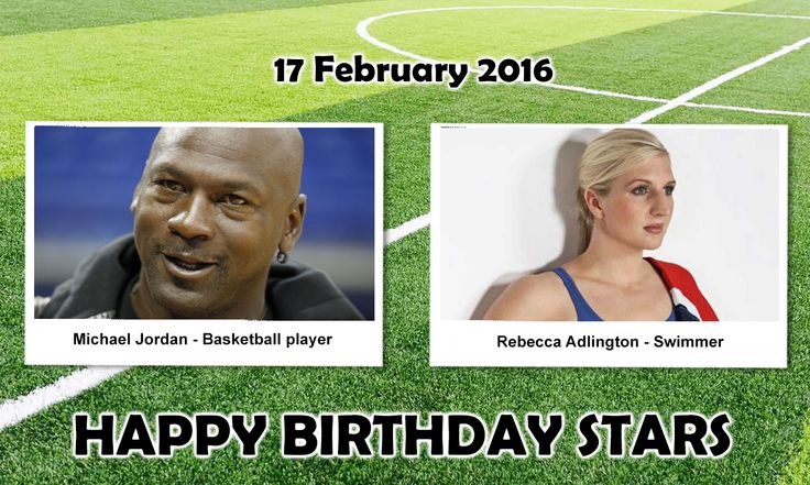 Happy Birthday Sports Stars. #MichaelJordan : is an American former professional Basketball player. His accolades include five MVP Awards, ten All-NBA First Team designations, 9 All-Defensive First Team honors, 14 NBA All-Star Game appearances, #RebeccaAdlington : is an English former competitive Swimmer who specialized in freestyle events in international competition. With four Olympic medals, Adlington shares the record as Great Britain's most decorated female Olympian with Katherine…