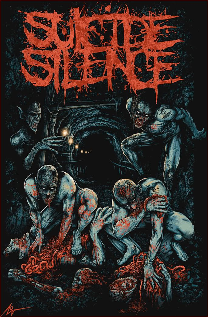 ☆ Predators to Prey - Suicide Silence :¦: By Artist Christopher Lovell ☆