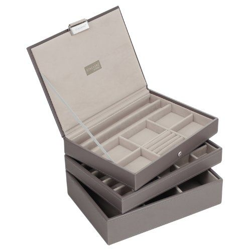 STACKERS Set of 3 'CLASSIC SIZE' - Mink STACKER Set of 3 Jewellery Box with Grey Velvet Finish Lining Stackers by LC Designs http://www.amazon.co.uk/dp/B00BMP3Z9U/ref=cm_sw_r_pi_dp_grR9wb01VJ1SC