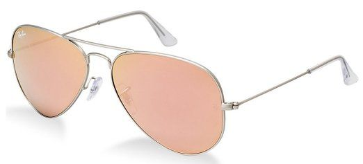Ray-Ban Aviator Sunglasses Matte Silver/Pink Mirror (019/Z2) 55mm (SMALL SIZE) RAYBANS SUNGLASSES, SAVE UP TO 75%
