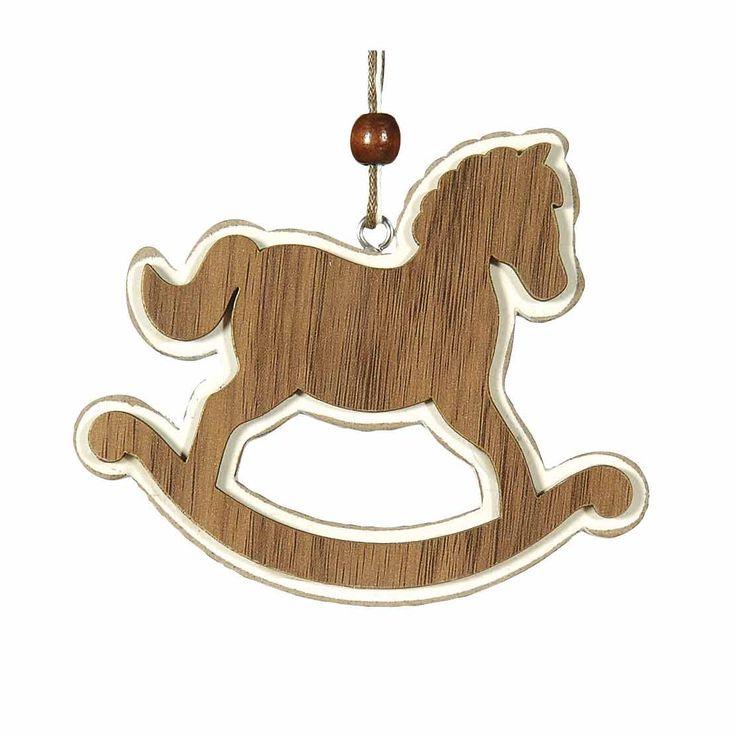 Ξύλινο κουνιστό αλογάκι, ύψους 10cm