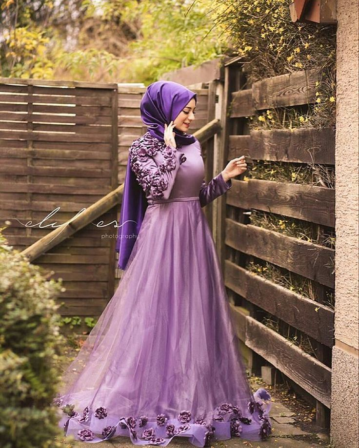 muslimweddingideasWe love sister @seymatje's outfit! ♥  This beautiful purple dress is perfect for engagement or attending weddings ♥