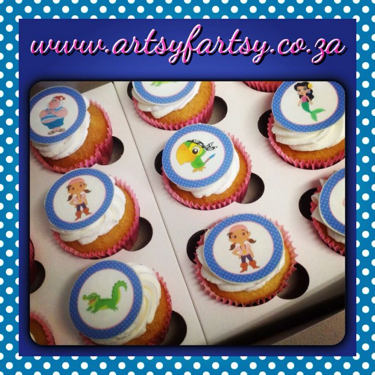Jake and the Neverland Pirates Edible Picture Cupcakes
