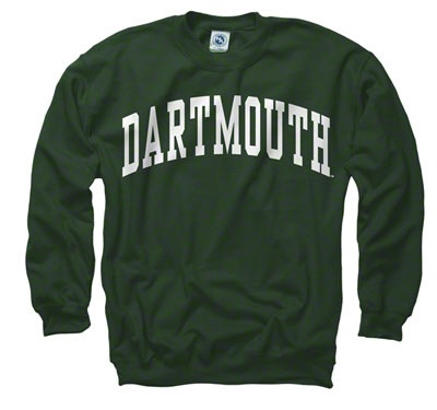 $27 Dartmouth Big Green Dark Green Arch Crewneck Sweatshirt.  Love wearing Bill's Dartmouth sweatshirt, it's one of the things I love...wearing my husbands clothes.
