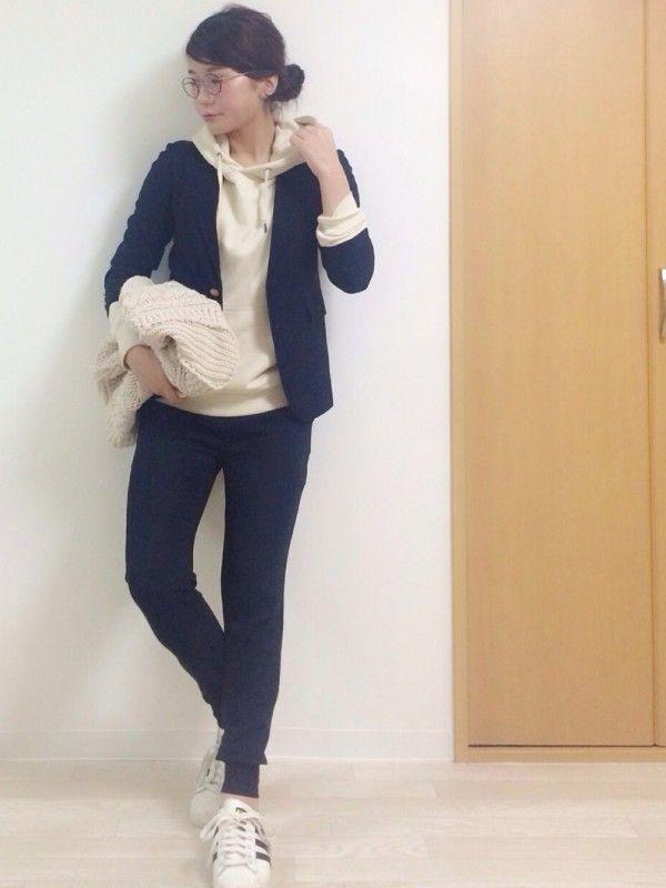パーカーコーデ術♡程よい抜け感が素敵な大人女子のパーカー着こなし特集!! | folk