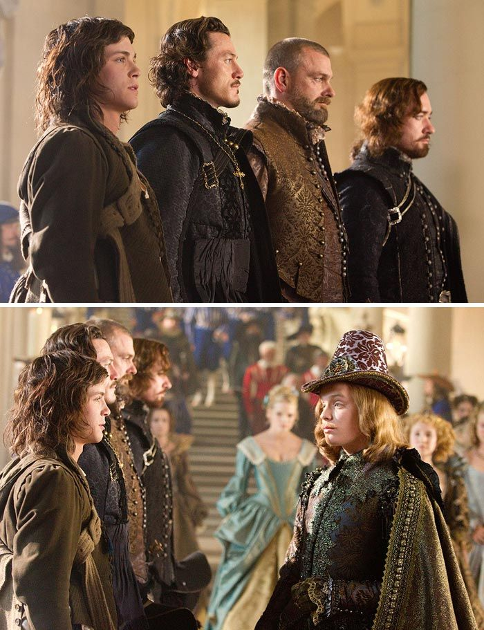 The Three Musketeers (2011) Starring: Logan Lerman as D'Artagnan, Luke Evans as Aramis, Ray Stevenson as Porthos, Matthew Macfadyen as Athos, Gabriella Wilde as Constance Bonacieux, Freddie Fox as King Louis XIII, and Juno Temple as Queen Anne.
