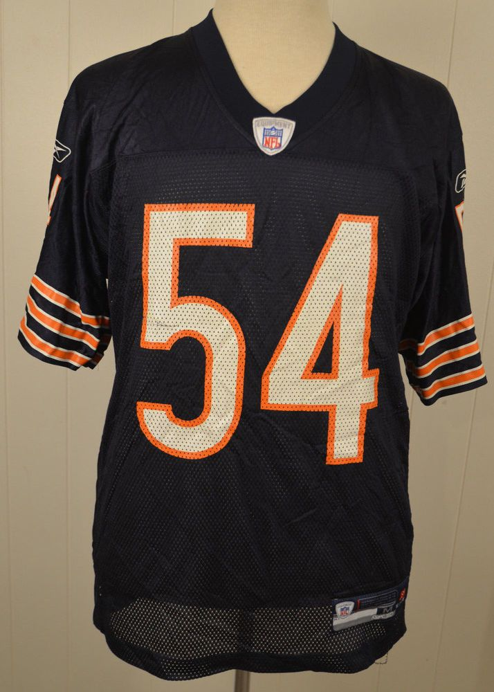 Reebok Chicago Bears Replica Jersey  54 Brian Urlacher NFL Adult Medium  Blue  Reebok  ChicagoBears 9ea87dff2