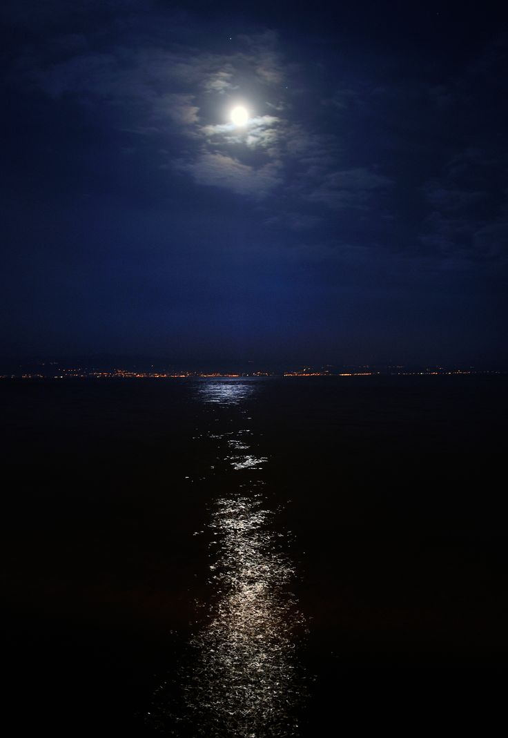 Moonlight on the Lake of Constance