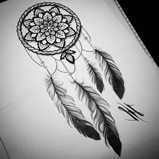 Tattoo nacken traumfänger ideen