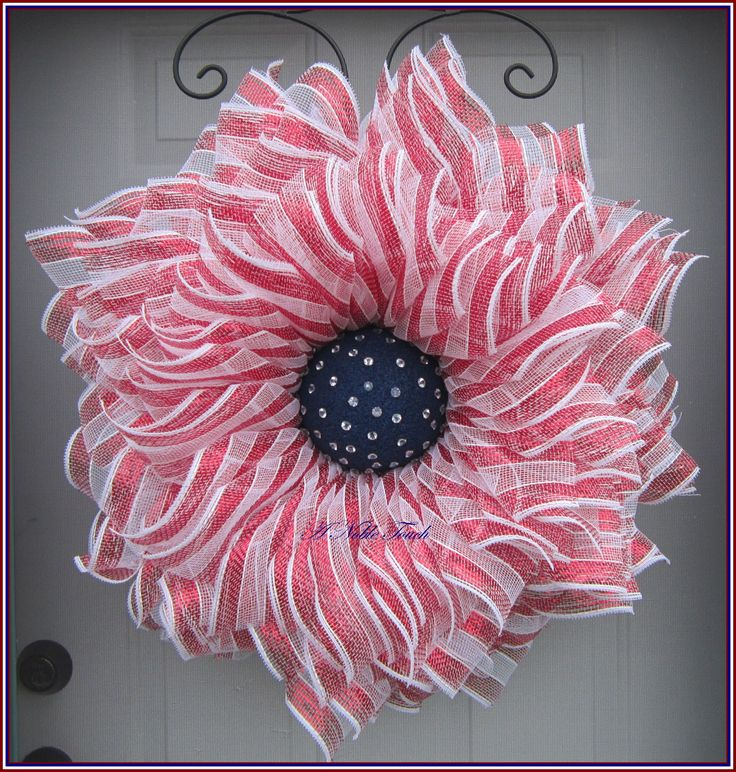 Patriotic Wreath, 4th of July Wreath, Red, White, Blue Wreath, Front Porch Wreath, Summer Wreath, Front Door Wreath, by A Noble Touch by ANobleTouch on Etsy