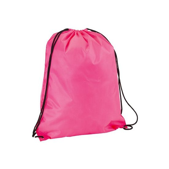 Neon roze gymtasje  Neon roze gymtas met rijgkoord. Een leuke fel roze gekleurde gymtas voorzien van een rijgkoord. Afmeting gymtassen: 34 x 42 cm.  EUR 3.25  Meer informatie