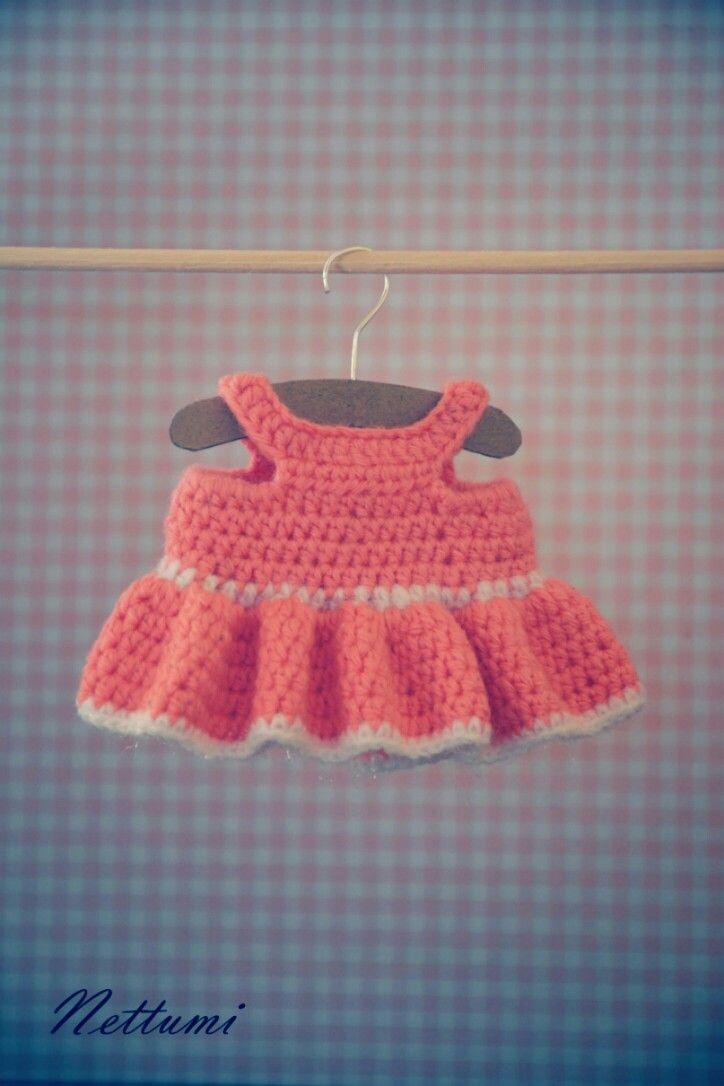 Crochet doll dress by Nettumi
