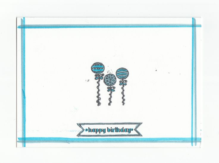 I made this card using Stampin Up stamps and markers.